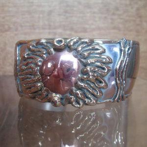 Brutalist Cuff Bracelet RADIANT SUN Molten Metals